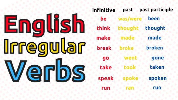the irregular verbs