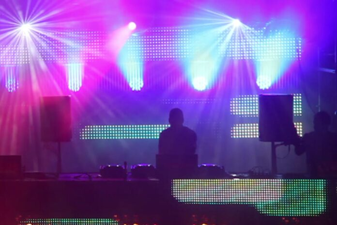 led screen at dj festival